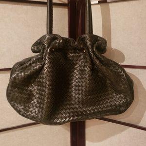 ADRIENNE VITTADINI Basket Woven Leather Bag